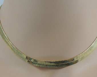 Monet Gold Herringbone Necklace