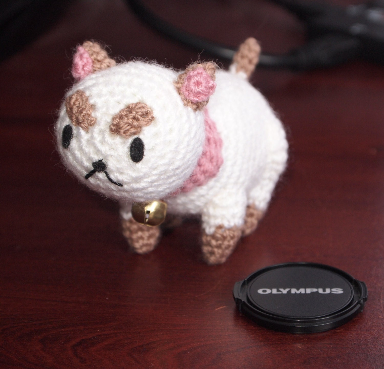 Tiny PuppyCat Crochet Amigurumi Cat Plushie Stuffed Jingle