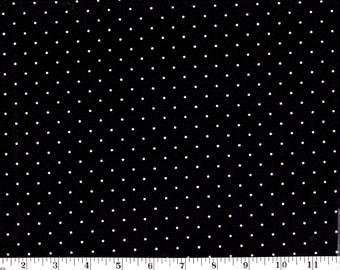 1 Yard, White Dots on Black