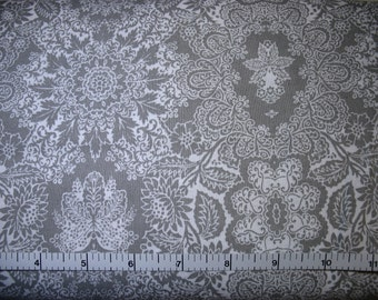 1 Yard, Gray and White Floral Lace Design