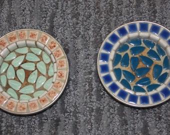 Pair of Vintage Ceramic Tile Trays