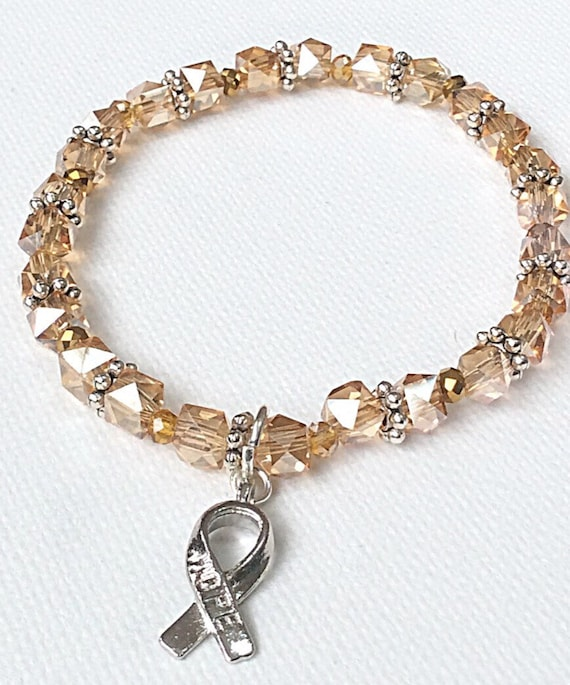 items similar to leukemia awareness bracelet silver