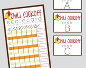 Group Chili Cookoff Sheet - INSTANT DOWNLOAD