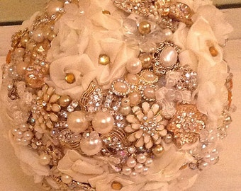 DEPOSIT | Brooch Bouquet | Broach Bouquet | Wedding Bouquet | Custom Bouquet