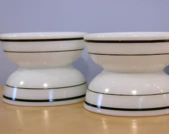 Double Tough Pyrex Green Band Bowls...Set of Four