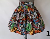 Superhero Comic Book High Waist Skirt