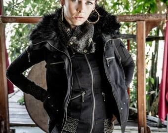 Freja vest - Winter vest - Women's vest - Fur vest - Vegan vest