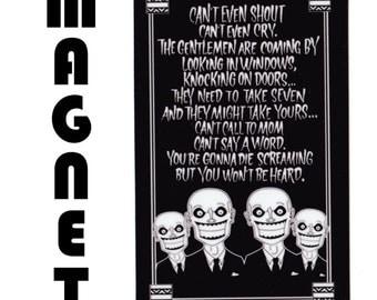 Buffy- The Gentlemen Song Magnet (Black)