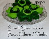 SHAMROCK Bowl and Jar  FILLERS Set of 4 Small St Patricks Holiday Decor