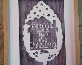 Home New House, Quote. Papercutting Paper Cut jpeg Template