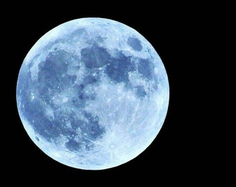 Full Moon Photo, Moon Picture, Full Moon Picture, Blue Moon Picture, Moon Print, Full Moon Print, Blue Moon