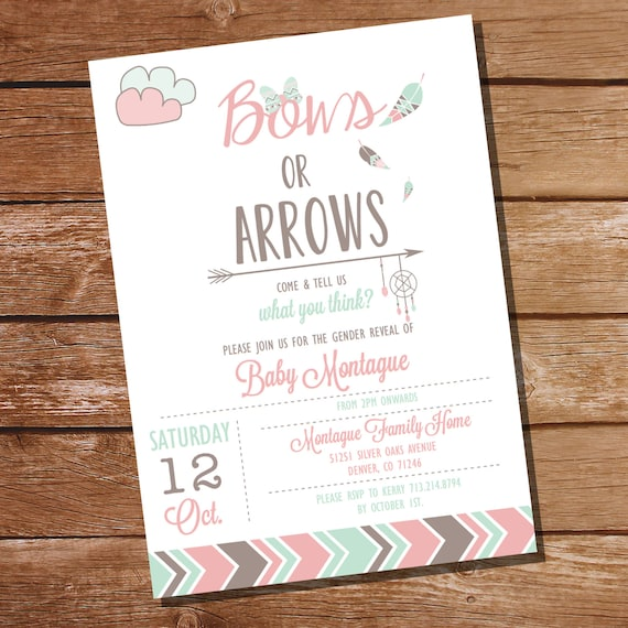 Gender Reveal Invitation Templates for awesome invitations ideas