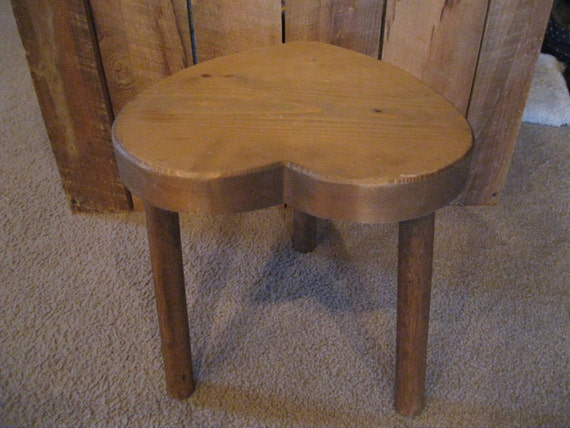 Heart Shaped Wood Stool Doll Chair Heart Shaped Stool Wooden