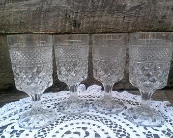 Anchor Hocking Wexford Glassware, Set of 4