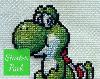 Yoshi Cross Stitch Starter Pack