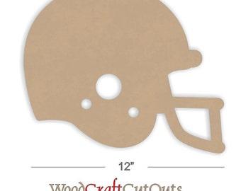 12 inch Football Helmet Wood Craft Cutout Shape