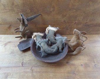 Primitive Witch Boots - Witch Boot Bowl Filler - Witch Shoes - Primitive Bowl Filler - Primitive Halloween Decor