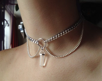 Astrid choker in Clear Quartz
