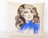Dolly Parton Decorative Throw Pillow, Throw Pillow, Pillow Cushion, Accent Pillow, Home Decor Pillow
