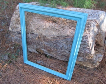 Beautiful Turqouise Shabby Chic Frame, Vintage Frame, Shabby Chic Frame, Turquoise Frame, Gallery Frame, photo prop frame