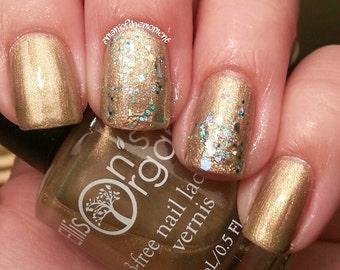 Gold Nail Polish - Vegan Nail Polish - Nails - Christmas Nail Polish - My Favorite Things - Nail Art Designs - Nail Art - Gifts for women