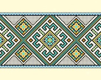 Cross Stitch Pattern PDF - Aztec