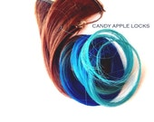 Hair Extensions, Beach Wave, Clip in Human Hair Extension, Dip Dye, Rainbow, Tye Dye, Ombre