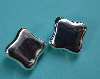Cummings studio  earrings clip on earrings clip-on 80s