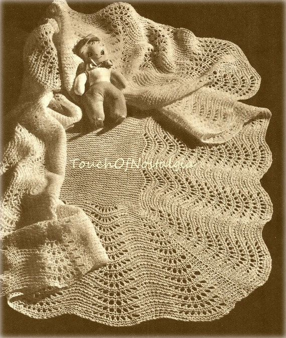 Knitting Patterns For Baby Shawls : LACY Baby SHAWLS Knitting Patterns-Lacy HEIRLOOM Baby