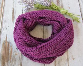 Purple Infinity Scarf | The Manhattan Infinity Scarf | Knit Loop Scarf | Winter Circle Scarf