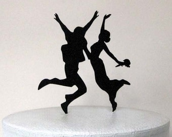 Wedding Cake Topper - The wedding Jumping