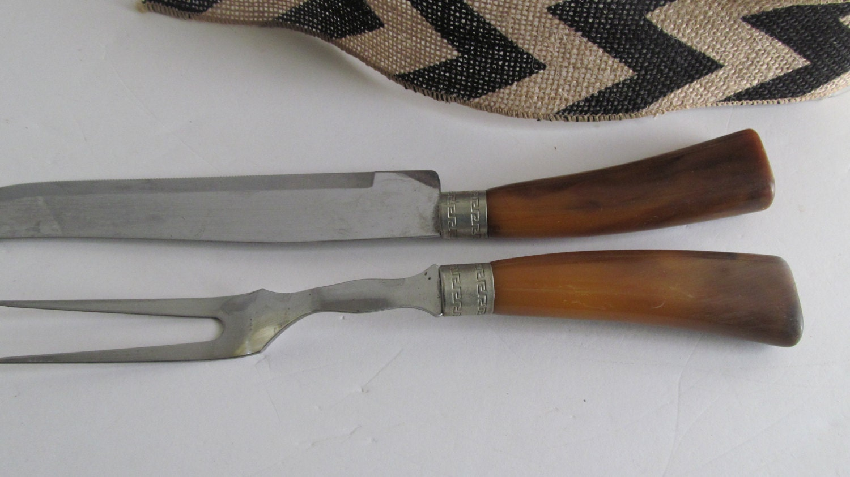 Sheffield knife set turkey carving of bakelite