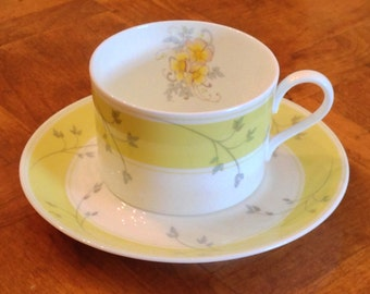 "Mikasa ""Caress"" Set of Four Teacups and Four Saucers"