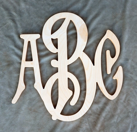 26 inch large 3 initials wooden monogram letter for 3 inch wooden letters