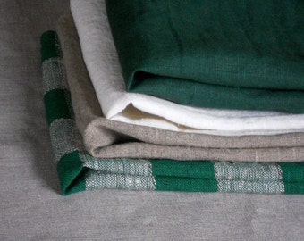 Linen napkins set of 4 washed dinner serviette natural gray green white burlap linen in rustic style