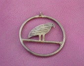 Vintage Silver Pendant, Mexico Silver, Silver Bird, Pendant
