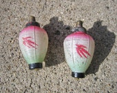 Antique Christmas Glass Light Bulbs Lantern With Tested DO NOT Work