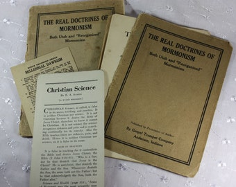"Vintage Religious Paperbacks: The Real Doctrines of Mormonism Both Utah and ""Reorganized"" Mormonism by John Nutting"