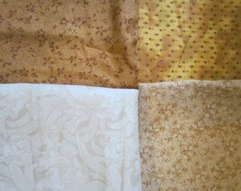 4 Piece Gold Beige Scrap Bundle    destash 218