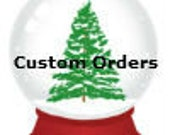 "Custom Order for Laura M:  60"" Burgandy and Gold tree skirt."