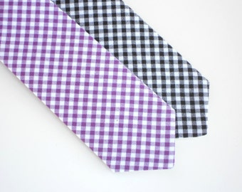 Neck tie for babies, little boy tie, boys purple tie, baby boy tie, toddler black tie, ring bearer tie, baby boy wedding outfit