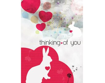 A6 Greeting Card - Thinking of you Bunny
