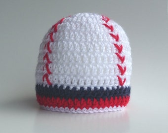 Baby Baseball Hat CROCHET PATTERN Photo Prop Boy Baseball Hat Baby Baseball Beanie Crochet Baseball Hat Newborn Baseball Hat Baseball Cap