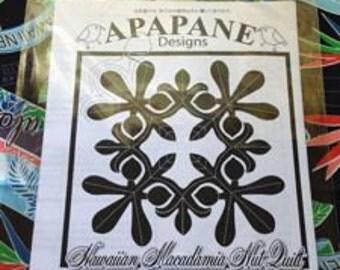 """Hawaiian quilt pattern """"Macadamia nuts"""" 20 inch x 20 inch"""