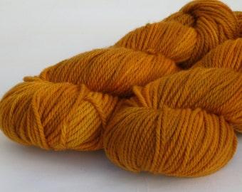 Aran yarn - Hand dyed Superwash Merino,   cinnamon