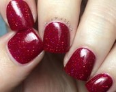 Red Roses handcrafted artisan nail polish