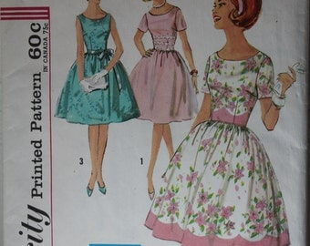 1960's Simplicity Special occasion Day Dress Pattern