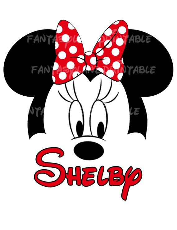 Minnie Mouse Classic Red Bow Silhouette for DIY Printable Iron