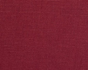 Burgundy European 100% Linen Fabric By the Yard 5oz