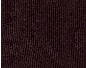 Micro Modal Spandex 2x1 Rib Knit Fabric 4 Way Stretch - Brown
